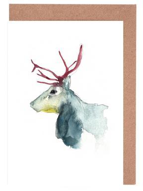 Reindeer 3 wenskaartenset