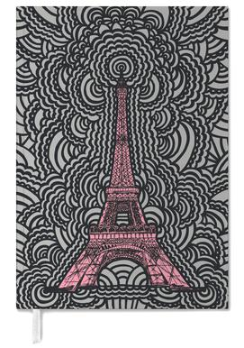 Eiffel Tower Drawing Meditation Pink Personal Planner