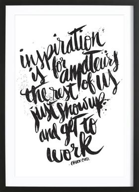 inspiration is for amateurs Poster in Wooden Frame