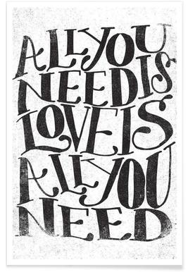 Love Is All You Need   Matthew Taylor Wilson   Premium Poster ...