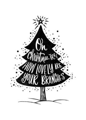 oh christmas tree as canvas print by matthew taylor wilson juniqe