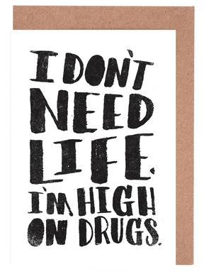 High On Drugs wenskaartenset