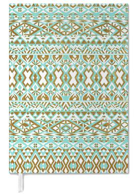 Mint And Gold Tribal Beach Personal Planner