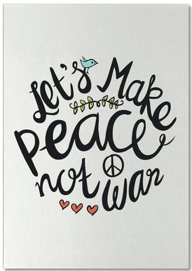 Peace Not War notitieblok