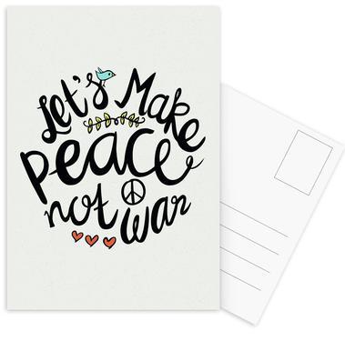 Peace Not War Set de cartes postales