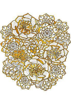 Succulent Bouquet Canvas print