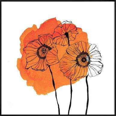 Buy framed poppy posters online juniqe uk poppies morgan kendall poster in standard frame mightylinksfo