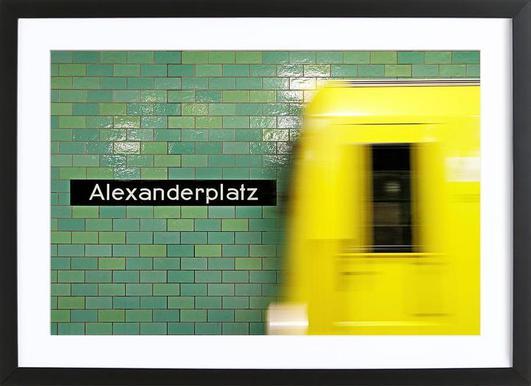 Reaching Alex Poster im Holzrahmen