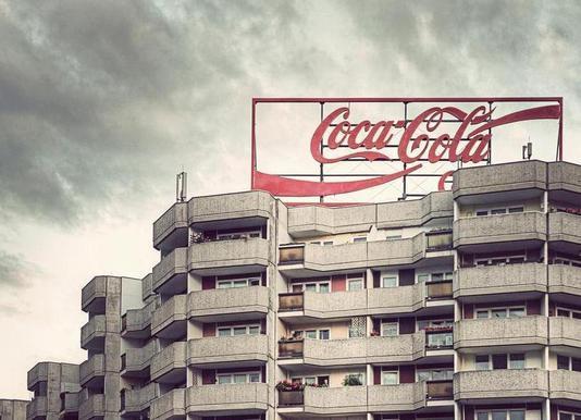 Coca Cola canvas doek