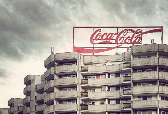 Coca Cola Aluminium Print