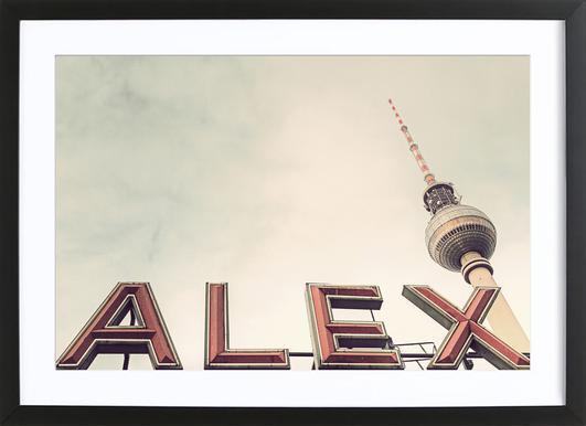 Alex Poster im Holzrahmen
