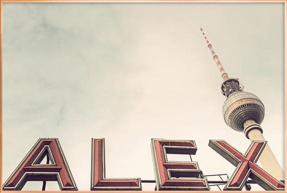 Alex Poster im Alurahmen