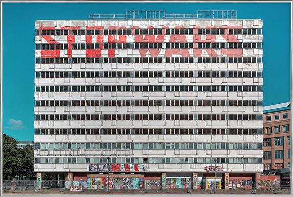 Haus der Statistik Poster in Aluminium Frame