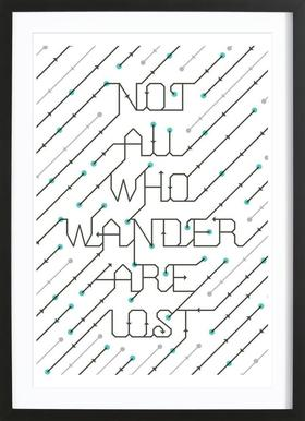 Not All Who Wander -Bild mit Holzrahmen
