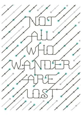 Not All Who Wander canvas doek