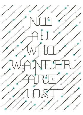 Not All Who Wander Leinwandbild