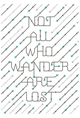 Not All Who Wander acrylglas print