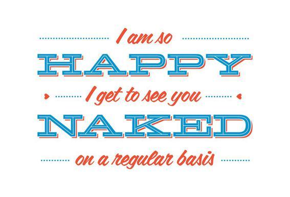 Happy When You're Naked acrylglas print