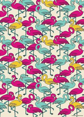 Wrapping Paper Flamingos canvas doek