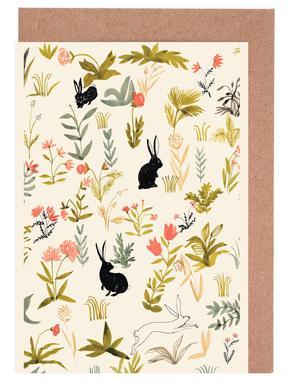 Black Rabbits Set de cartes de vœux