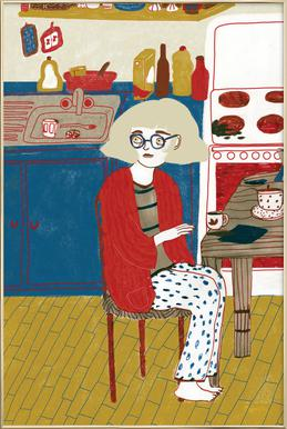 Breakfast -Poster im Alurahmen