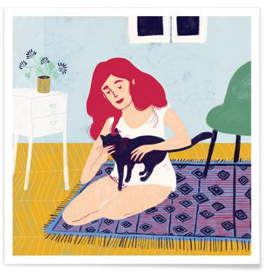 Room With A Cat Poster