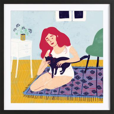 Room With A Cat Framed Print