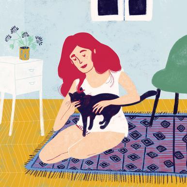 Room With A Cat Impression sur acrylique