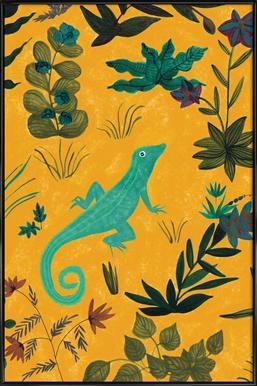 Lizard -Bild mit Kunststoffrahmen