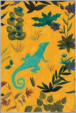Lizard affiche sous cadre en aluminium