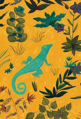 Lizard Impression sur acrylique