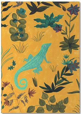Lizard -Notizblock