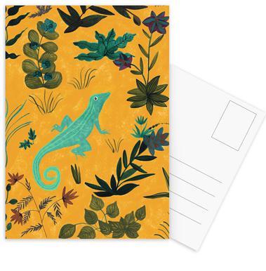 Lizard -Postkartenset