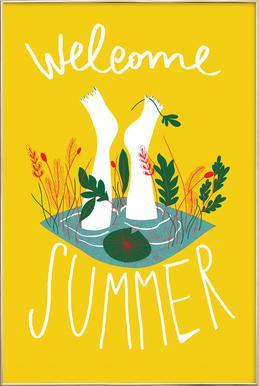 Welcome Summer -Poster im Alurahmen