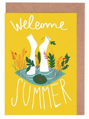 Welcome Summer cartes de vœux