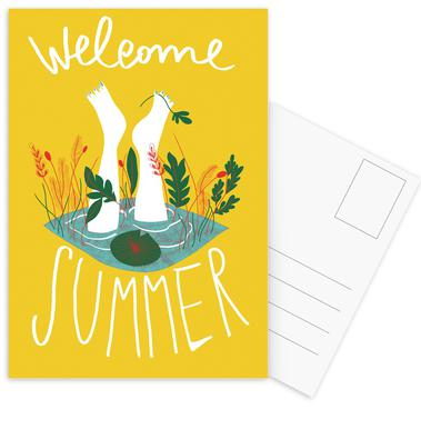 Welcome Summer Set de cartes postales