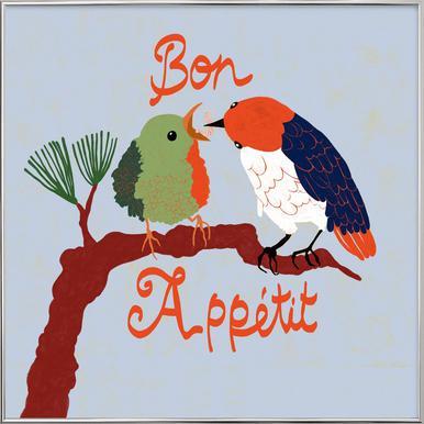 Bon Appétit Poster im Alurahmen