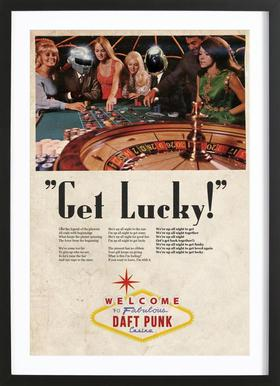 Get Lucky ! Poster in Wooden Frame