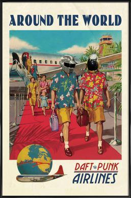Around The World ingelijste poster