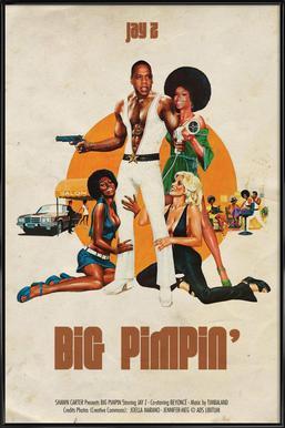 Big Pimpin ingelijste poster
