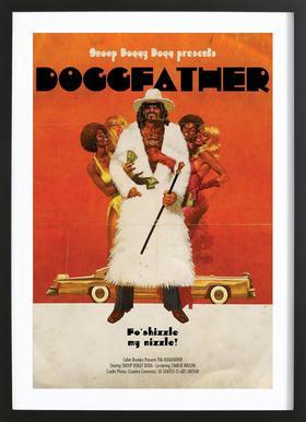 Dogg Father -Bild mit Holzrahmen