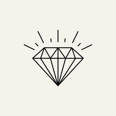 diamond as canvas print by jaysan studio juniqe uk