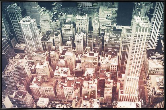 Manhattan's Buildings Poster im Kunststoffrahmen