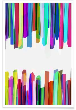 Colorful Stripes 3 Poster