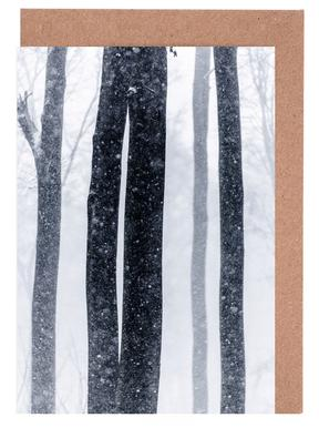 Snow Trees 2 Greeting Card Set