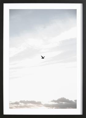 Flying High Poster im Holzrahmen