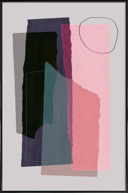 Pieces 5C Poster im Kunststoffrahmen