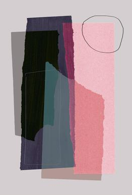 Pieces 5C -Acrylglasbild