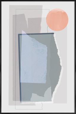 Pieces 10B Poster im Kunststoffrahmen