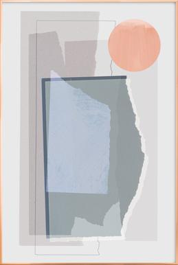 Pieces 10B -Poster im Alurahmen